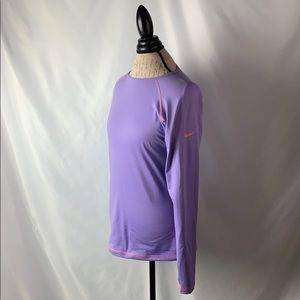Nike Pro Lavender Fleece Lined Long Sleeve Thermal